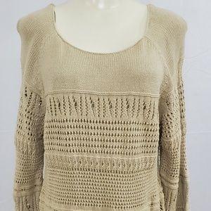 St. John's Bay Sweater size 2X Tan Crochet